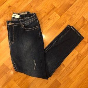 VGS Women's Dark Wash Blingy Pocket Skinny Jeans